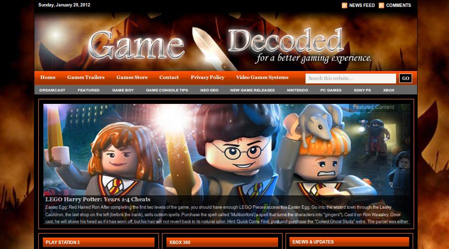 GameDecoded.com - game cheats site design ! | M.Atef