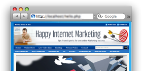 HappyInternetMarketing.com – Internet Marketing Tips site design !