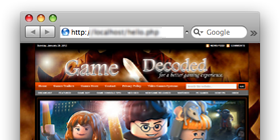 GameDecoded.com – game cheats site design !