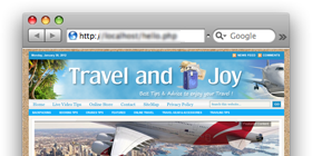 TravelandJoy.com – Travel Tips site design !